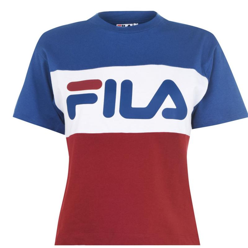 Tričko Fila Allis T Shirt Ladies Burg/Wht/Blu