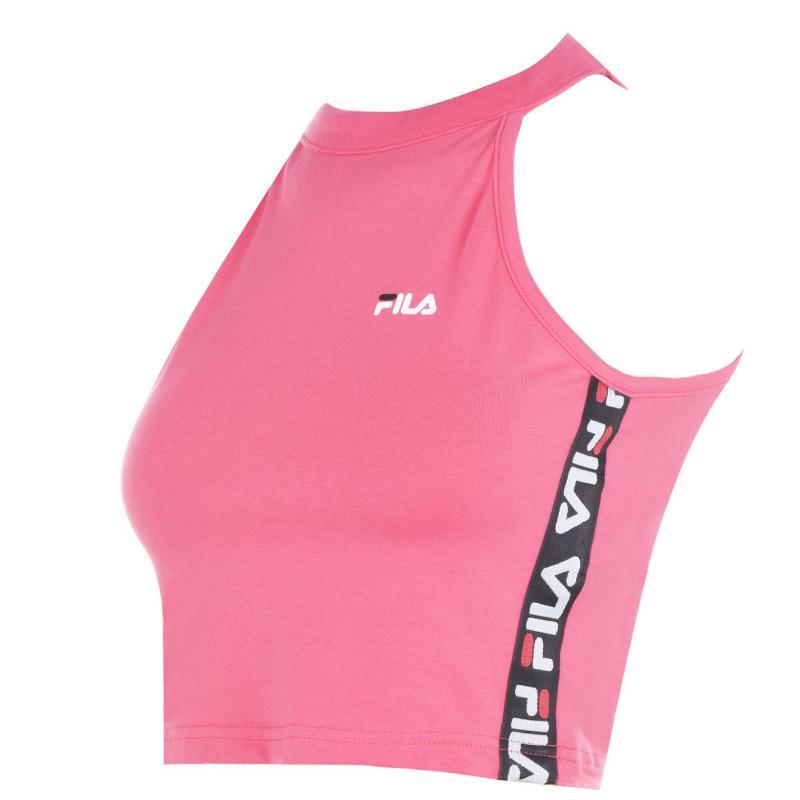Fila Melo Crop T Shirt Pink