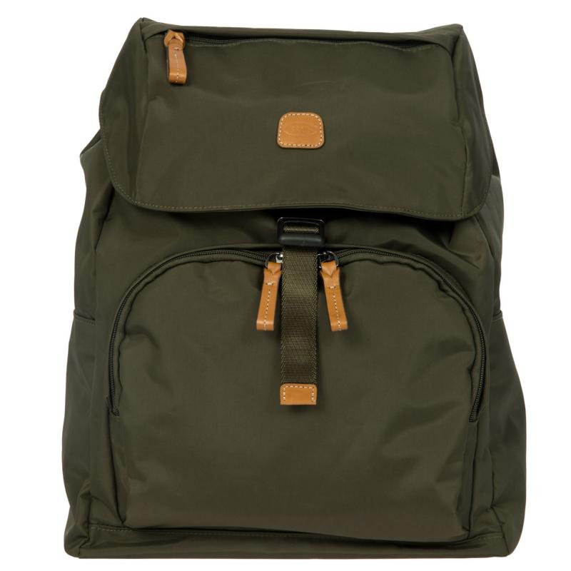 Brics X-Travel Olive Flapover Backpack Olive