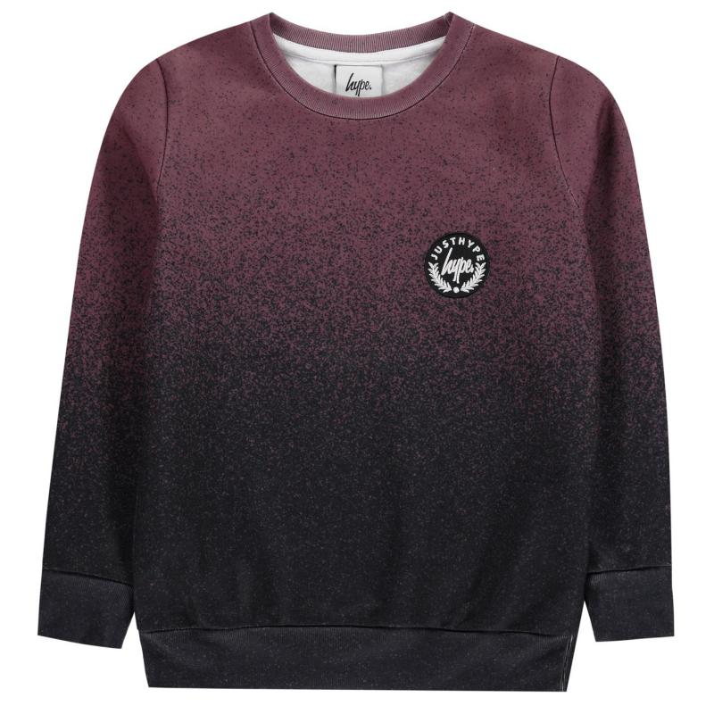 Mikina Hype Speckle Fade Sweatshirt Burgundy/Black