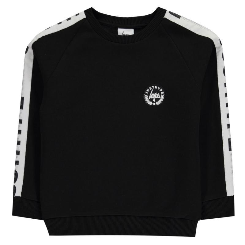 Mikina Hype Speckle Tape Sweatshirt Black