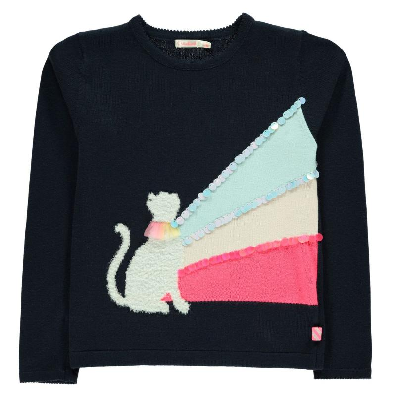 Billieblush Cat Jumper NAVY 85T