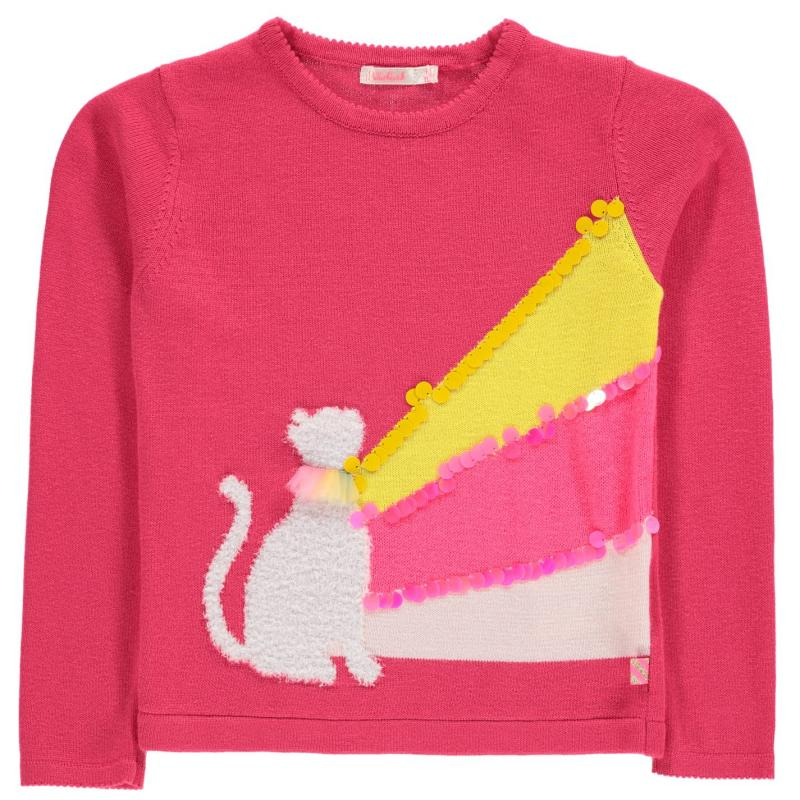 Billieblush Cat Jumper CRANBERRIES 48M
