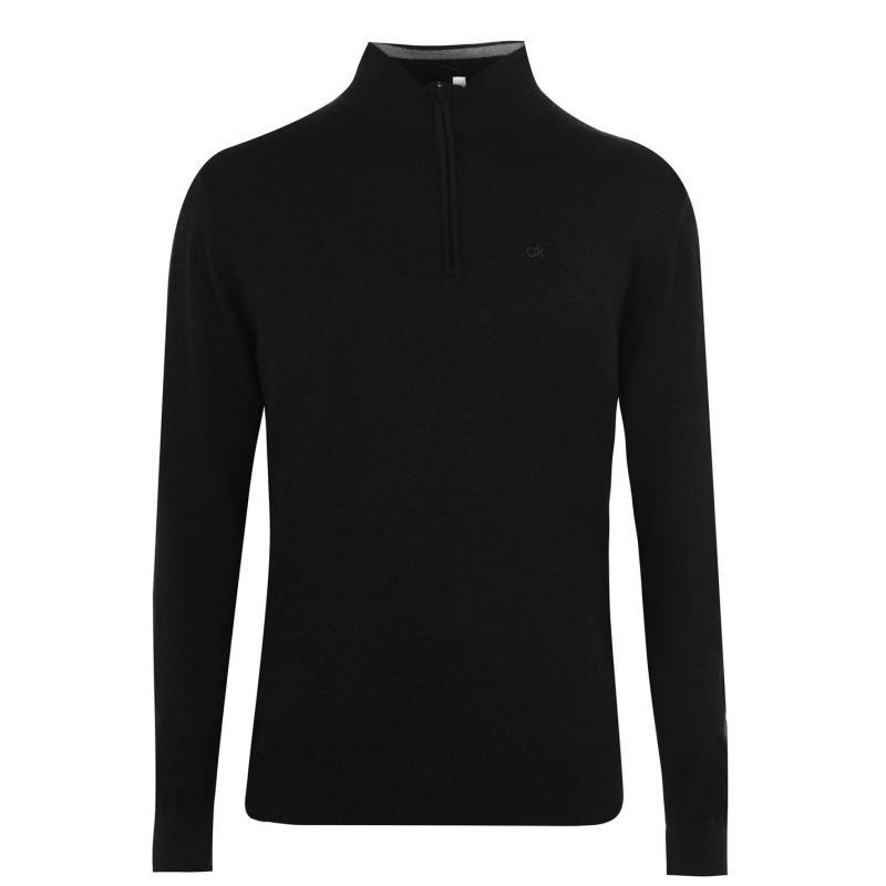 Calvin Klein Golf Half Zip Sweater Charcoal