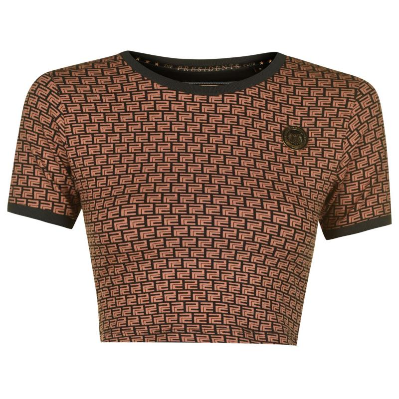 Presidents Club Panther T Shirt Brown