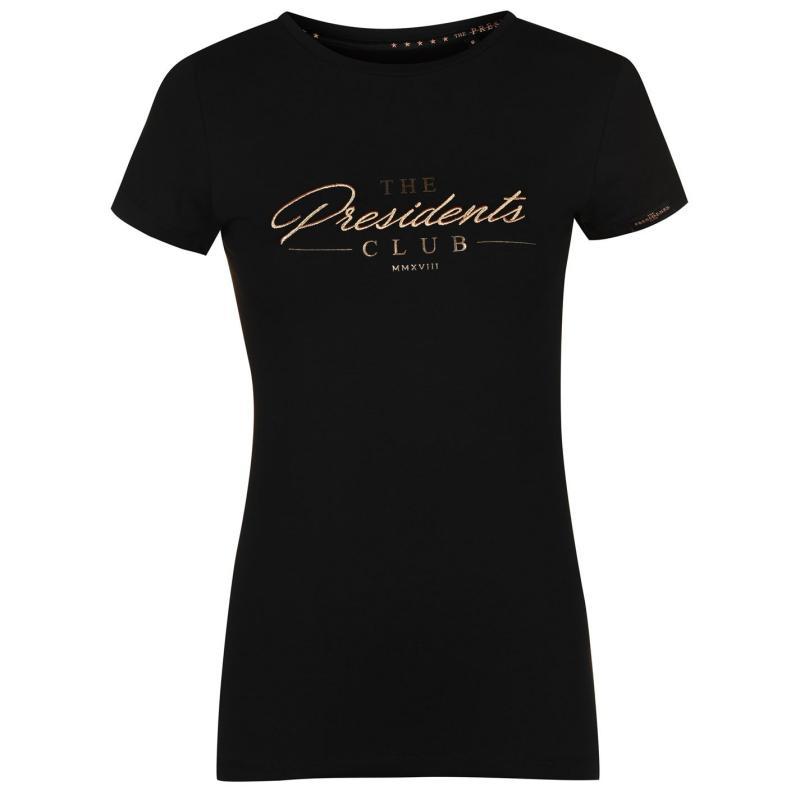 Tričko Presidents Club Regent T Shirt Black