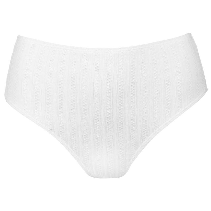 Plavky Vero Moda Vero Freedom High Waisted Bikini Briefs 16 SNOW WHITE