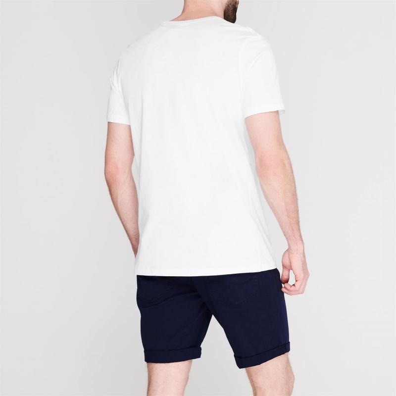 Tričko Jack and Jones Andres Crew T Shirt Mens White