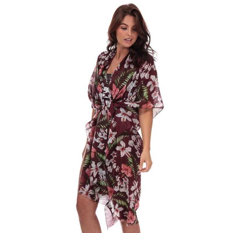 Vero Moda Womens Lena Beach Poncho Burgundy