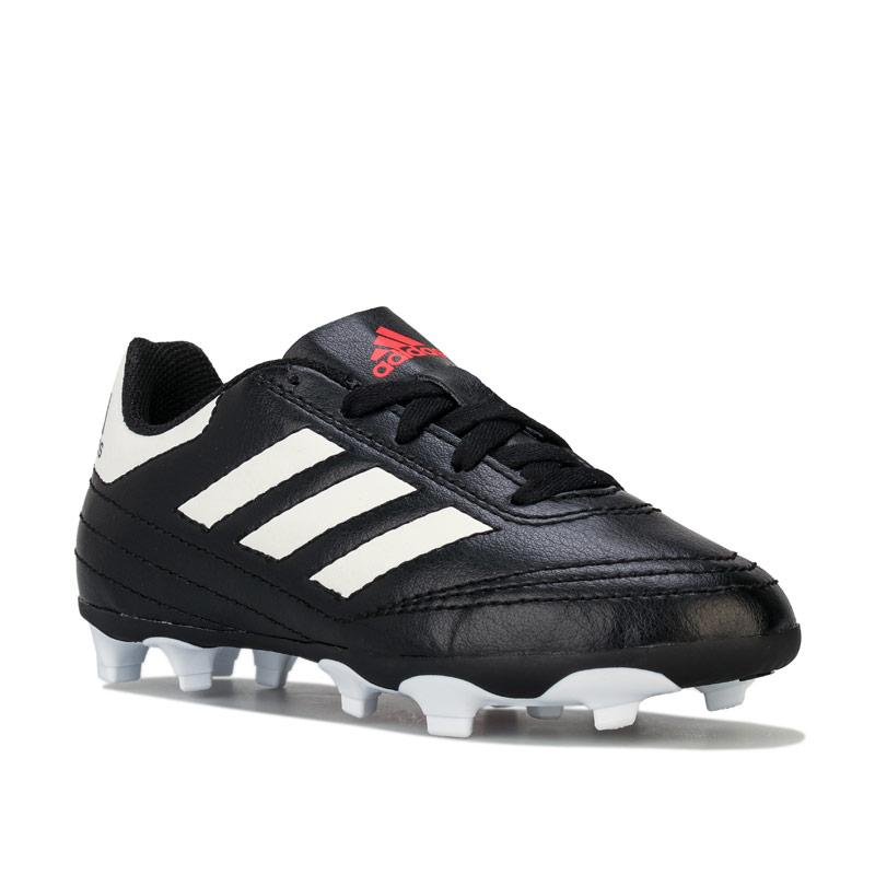 Adidas Children Boys Goletto VI FG Football Boots Black-White