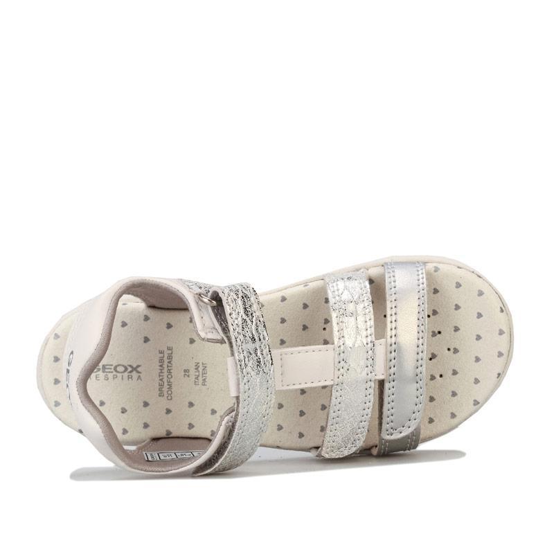 Geox Junior Girls Cuore Sandal Silver
