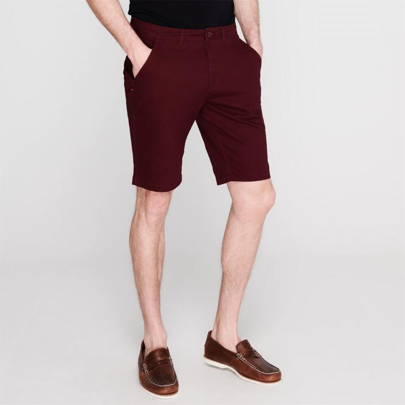 Kangol Chino Shorts Mens Burgundy