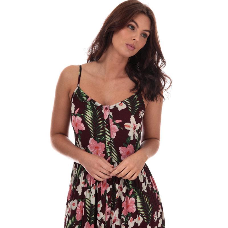 Šaty Vero Moda Womens Morning Midi Dress Burgundy