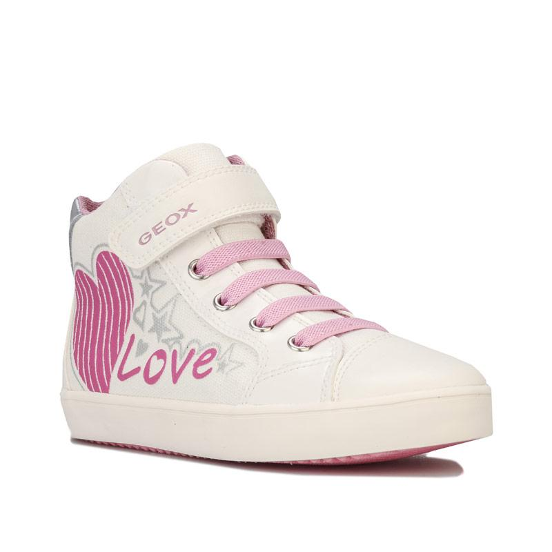 Geox Children Girls Gisli High Trainers White pink