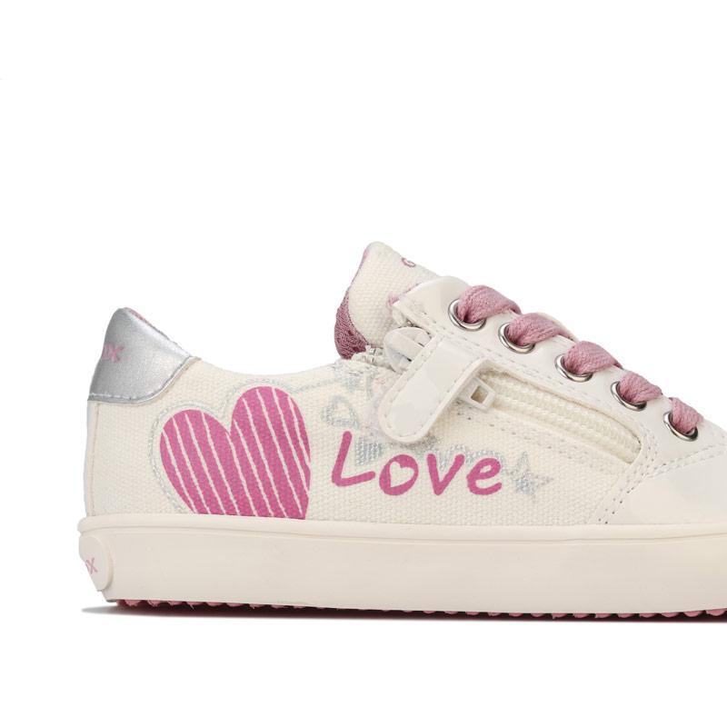 Geox Children Girls Gisli Low Trainers White pink