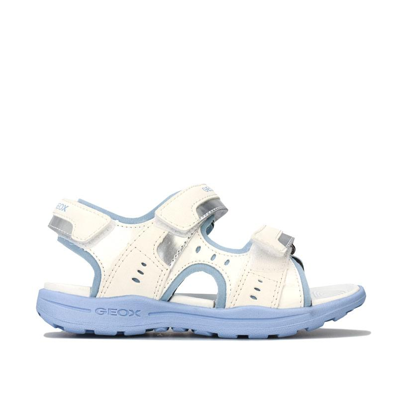 Geox Children Girls Vaniett Sandals White sky