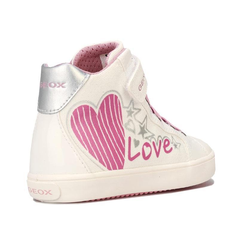 Geox Infant Girls Gisli High Trainers White pink