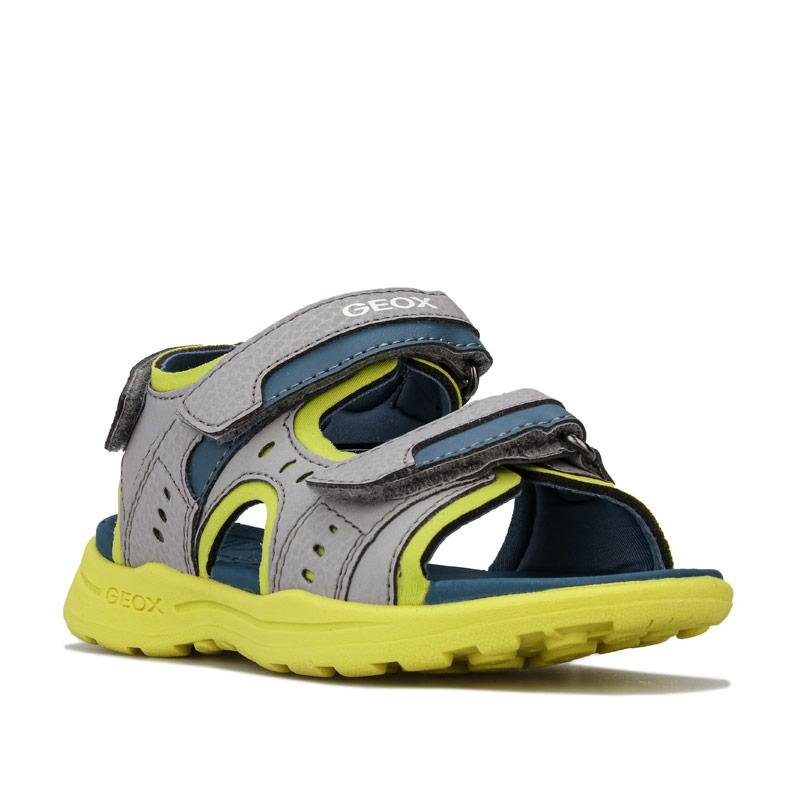 Boty Geox Junior Boys Vaniett Sandals Grey