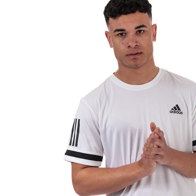 Tričko Adidas Mens 3-Stripes Club T-Shirt White