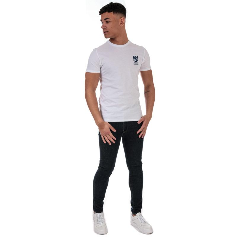 Tričko Replay Mens Basic Logo T-Shirt White