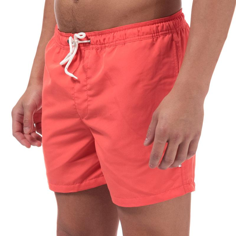 Jack Jones Mens Mailbu Solid Swim Shorts Coral