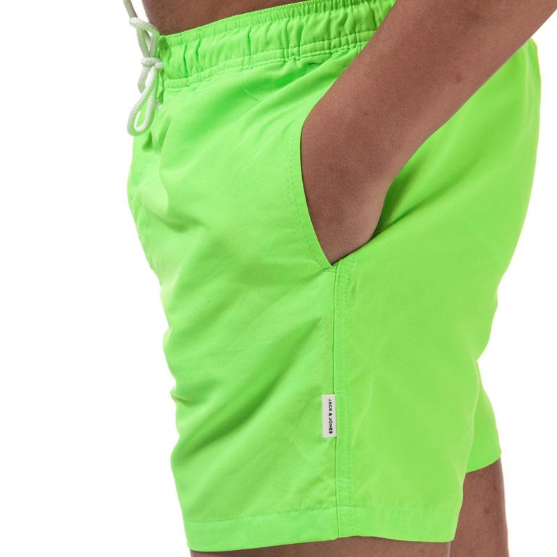 Jack Jones Mens Mailbu Solid Swim Shorts Green