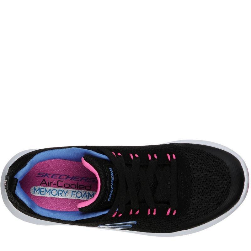 Skechers Dyna Tread Junior Girls Trainers Black/Pink