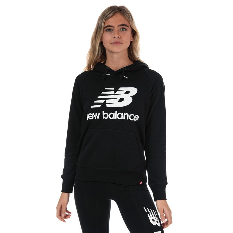 Mikina s kapucí New Balance Womens Essentials Pullover Hoody Black