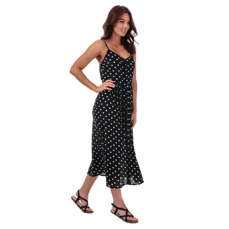 Šaty Vero Moda Womens Morning Midi Dress Black-White