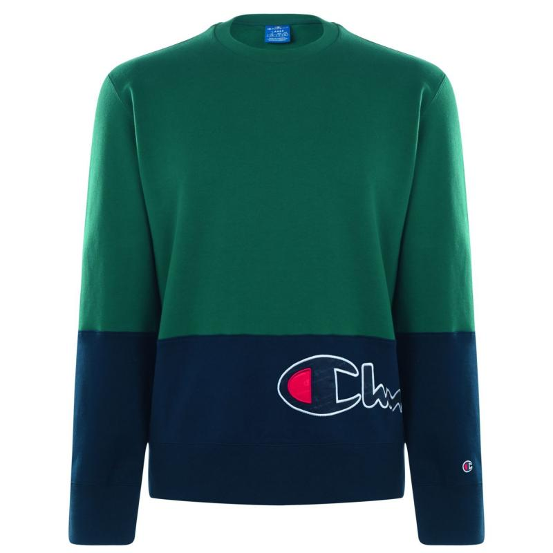 Mikina Champion Cut and Sew Sweatshirt EVG/NVB