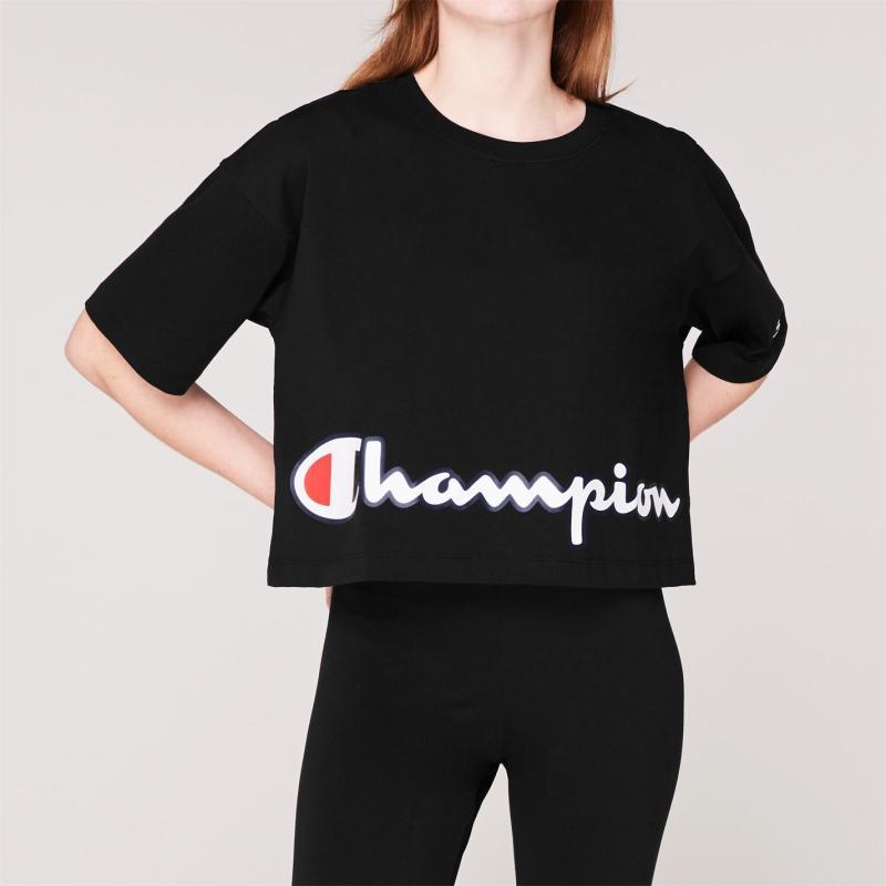 Champion Large Logo Crop T Shirt NBK KK001