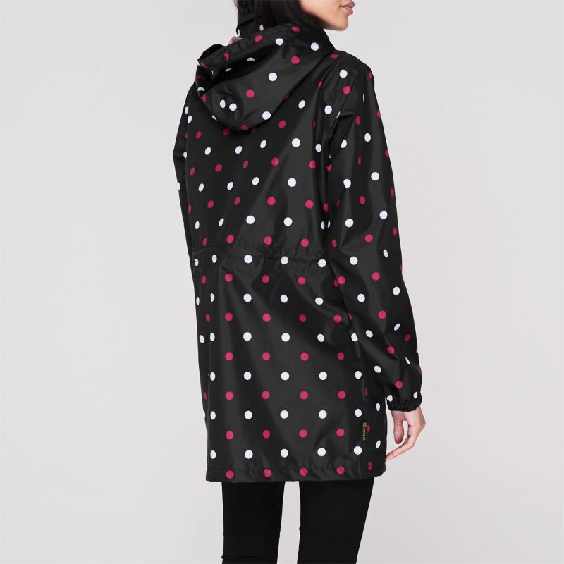 Gelert Packaway Parka Ladies Black Polka Dot