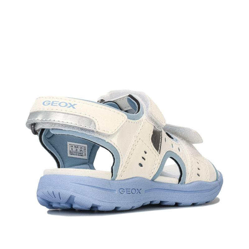 Geox Junior Girls Vaniett Sandals White sky