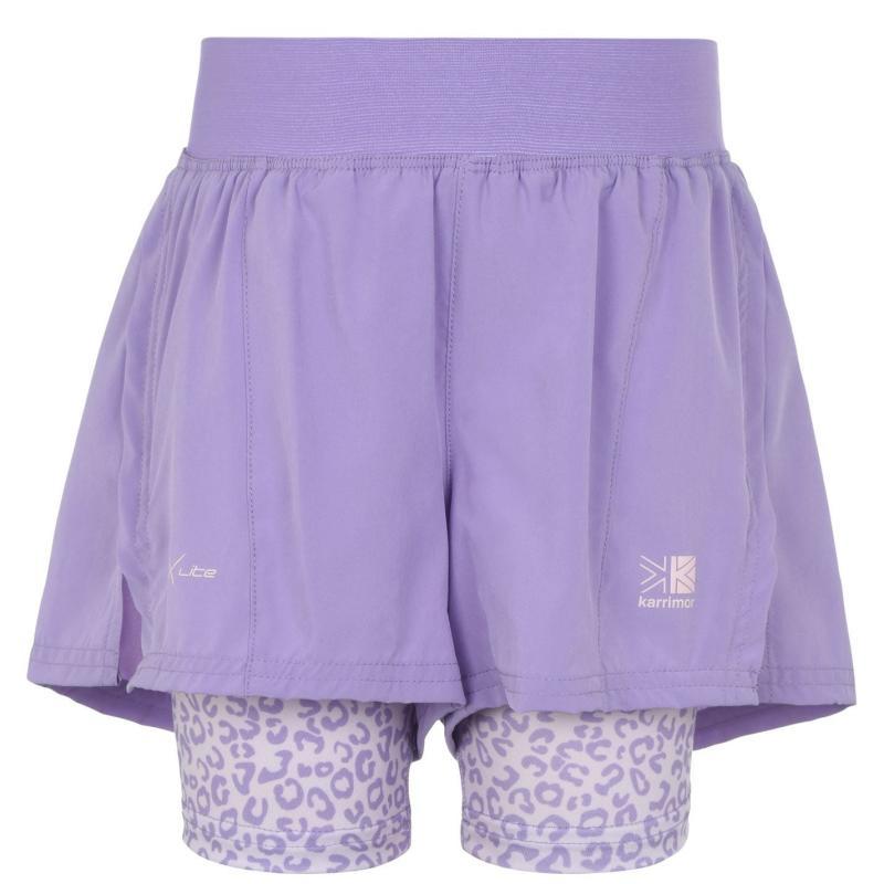 Karrimor X 2 in 1 Shorts Junior Girls Viola AOP