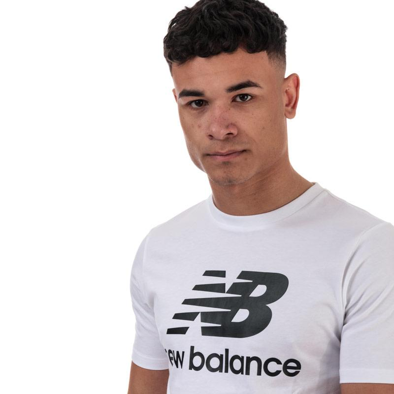 Tričko New Balance Mens Essentials Stacked Logo T-Shirt White