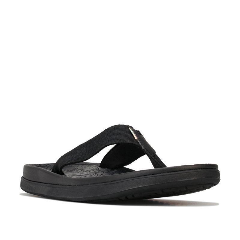 Toms Mens TRVL Lite Flip Flops Black