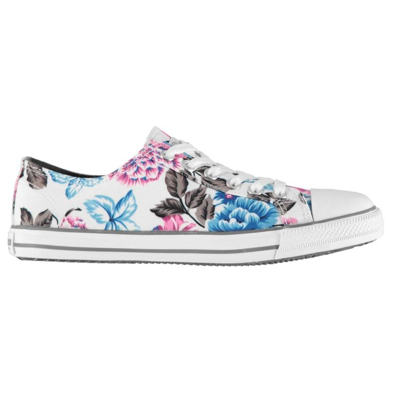 Obuv SoulCal Canvas Low Profile Womens Trainers Floral