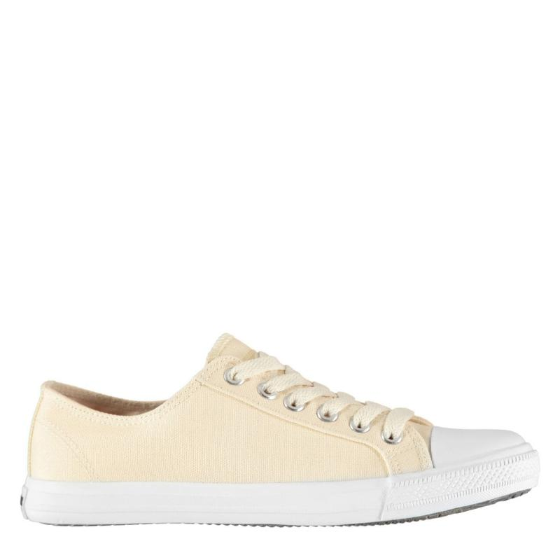 Obuv SoulCal Canvas Low Profile Womens Trainers Sand