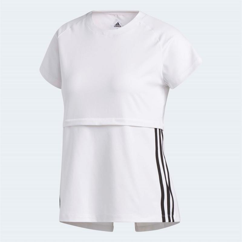Tričko adidas Womens Training 3-Stripes T-Shirt White/Black