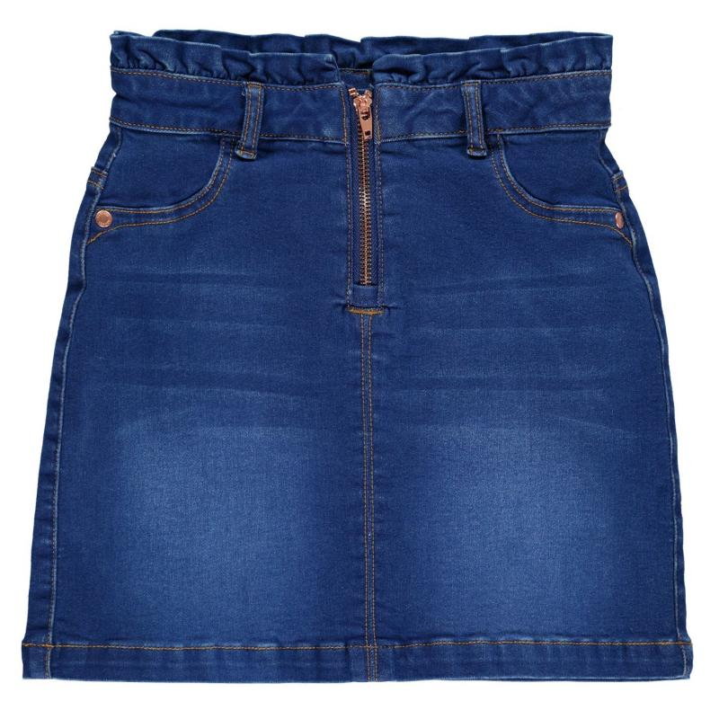 Firetrap Denim Mini Skirt Girls Bright Blue