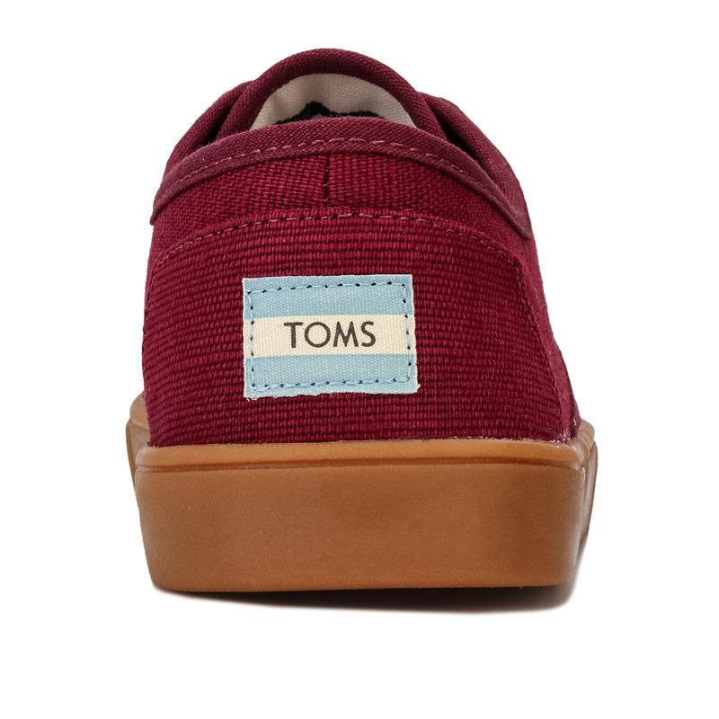 Boty Toms Mens Cordones Canvas Cupsole Shoe Burgundy