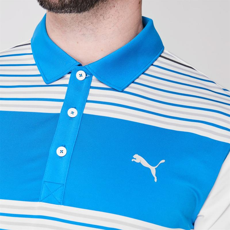 Puma Floodlight Golf Polo Shirt Mens Ibiza Blue