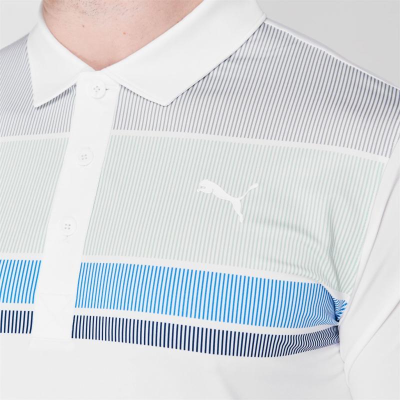 Puma Road Map Golf Polo Shirt Mens Mist Green