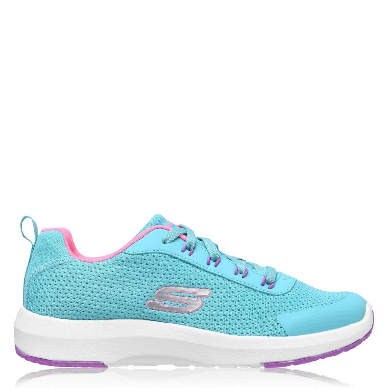 Skechers Dyna Tread Junior Girls Trainers Turquoise