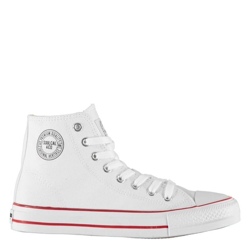 Obuv SoulCal Canvas High Top Trainers Ladies White