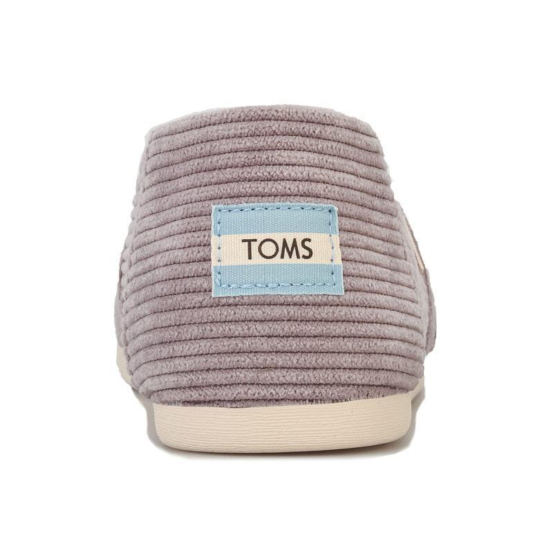 Obuv Toms Womens Classics Micro Cord Espadrille Pumps Grey