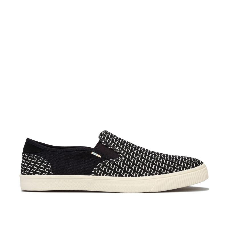 Boty Toms Mens Baja Canvas Slip on Shoes Black