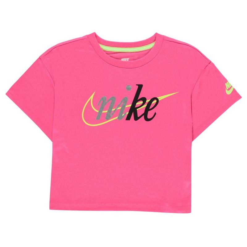 Nike NSW Crop T-Shirt Infant Girls Hyper Pink