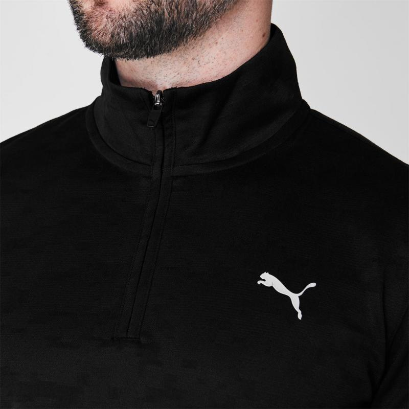 Puma Camo Quarter Zip Pullover Mens Puma Black