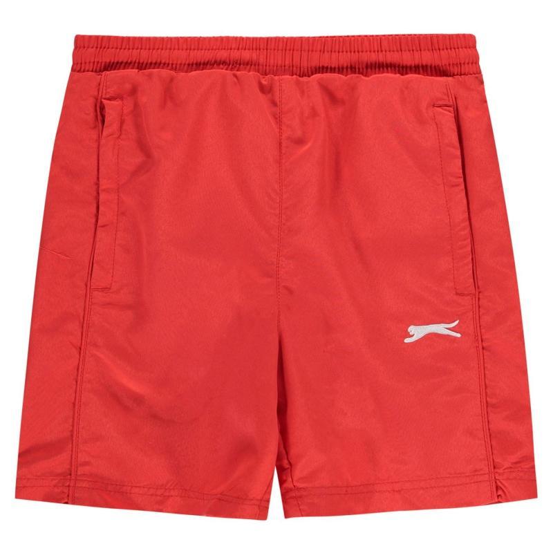 Kraťasy Slazenger Woven Shorts Junior Boys Red